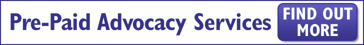Pre-Paid Advocacy Services banner